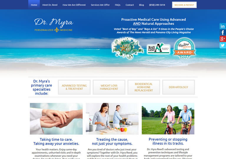 Dr. Myra Reed, Panama Beach City, FL